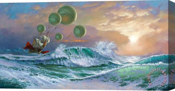Michael Cheval Flying Dutchman Stretched Canvas Print / Canvas Art