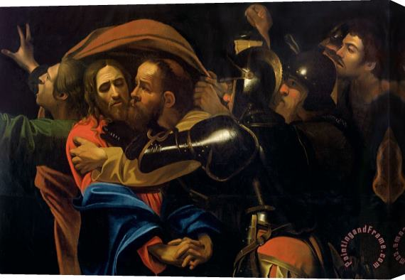 Michelangelo Caravaggio The Taking of Christ Stretched Canvas Print / Canvas Art