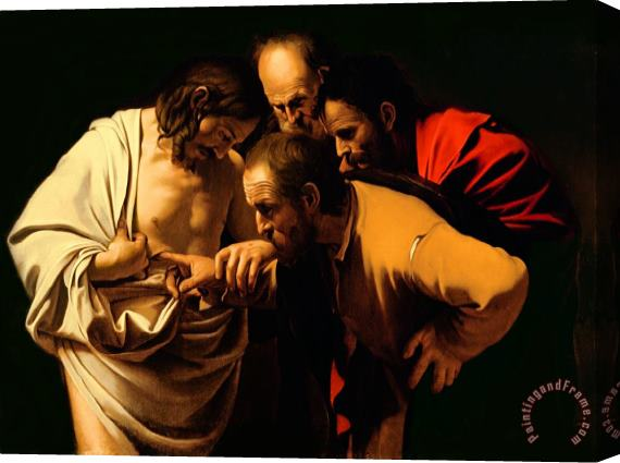 Michelangelo Merisi da Caravaggio The Incredulity of Saint Thomas Stretched Canvas Print / Canvas Art