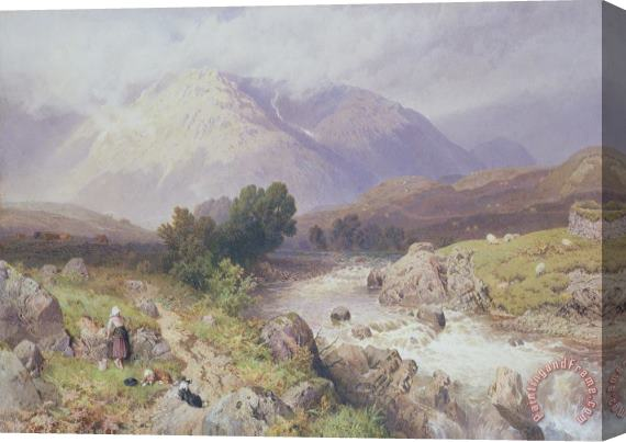 Myles Birket Foster Highland Scene Near Dalmally Argyll Stretched Canvas Print / Canvas Art