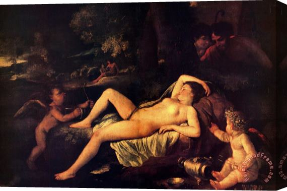 Nicolas Poussin Sleeping Venus And Cupid Stretched Canvas Print / Canvas Art