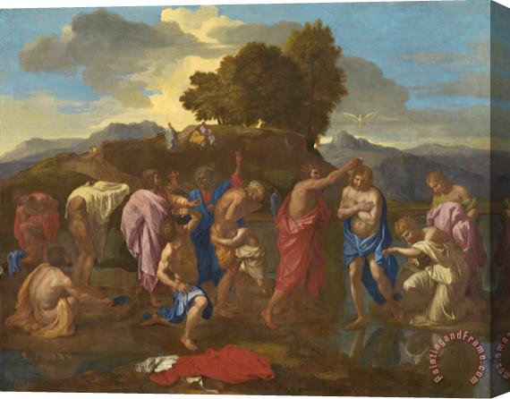 Nicolas Poussin The Baptism Of Christ Stretched Canvas Print / Canvas Art