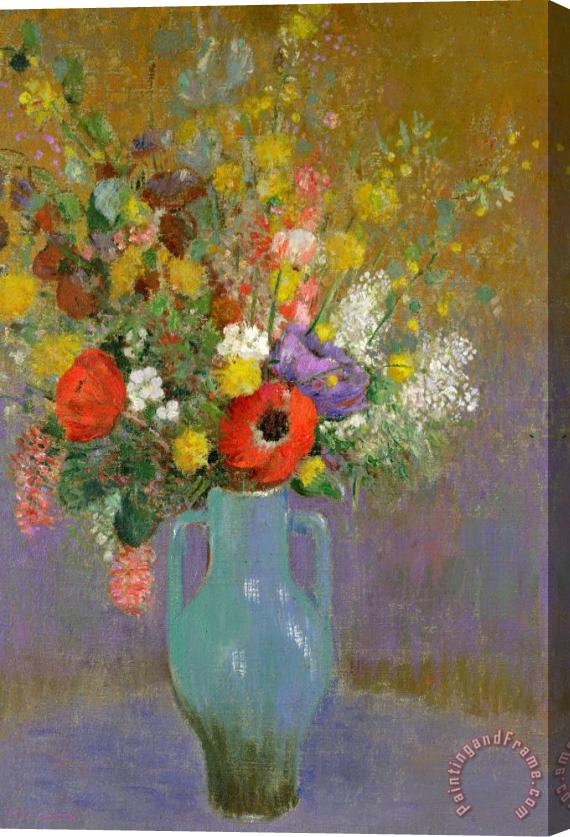 Odilon Redon Bouquet Of Wild Flowers Stretched Canvas Painting / Canvas Art