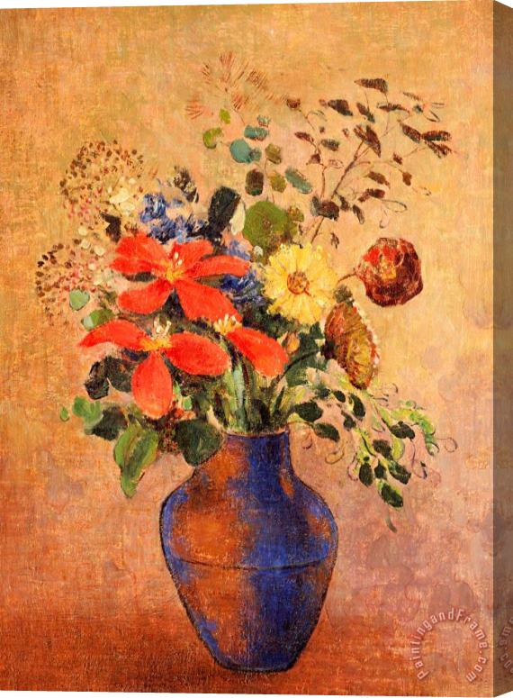 Odilon Redon The Blue Vase Stretched Canvas Painting / Canvas Art