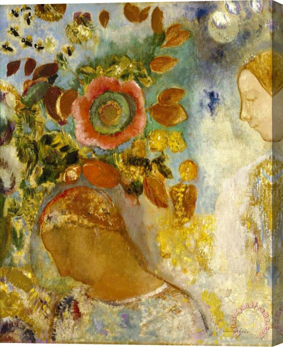 Odilon Redon Two Young Girls Among Flowers, 1912 Stretched Canvas Print / Canvas Art