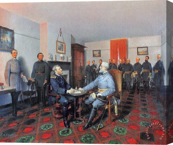 Others Civil War: Appomattox, 1865 Stretched Canvas Painting / Canvas Art