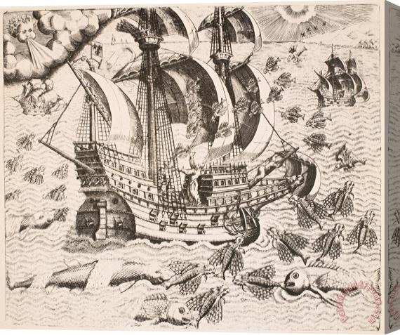 Others Flying Fish, 1594 Stretched Canvas Print / Canvas Art