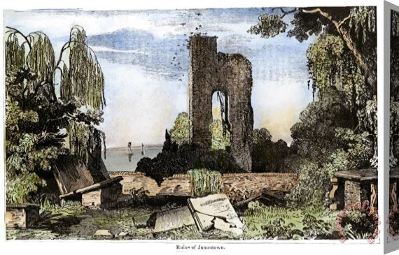Others Ruins Of Jamestown Stretched Canvas Print / Canvas Art