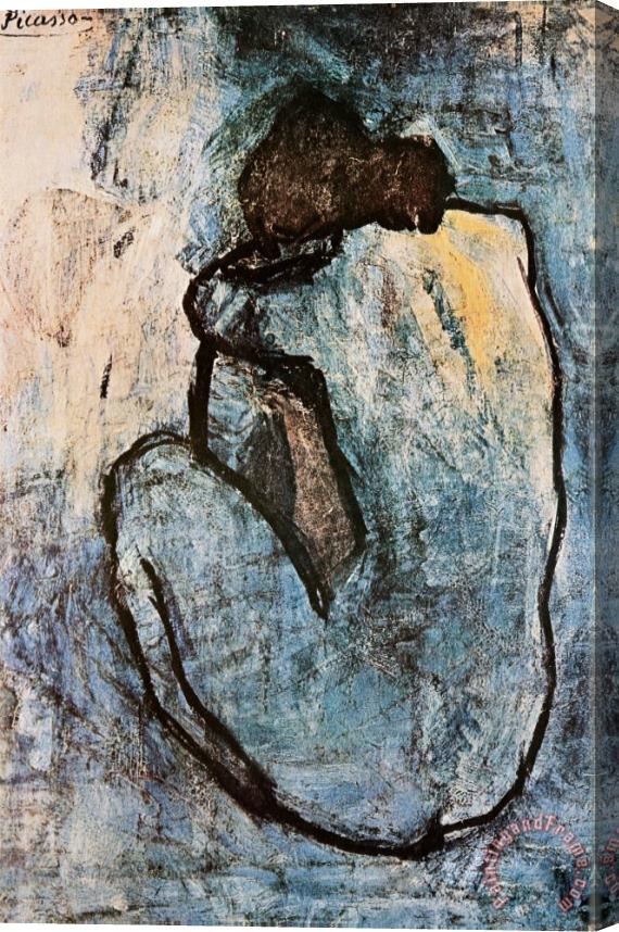 Pablo Picasso Blue Nude C 1902 Stretched Canvas Print / Canvas Art