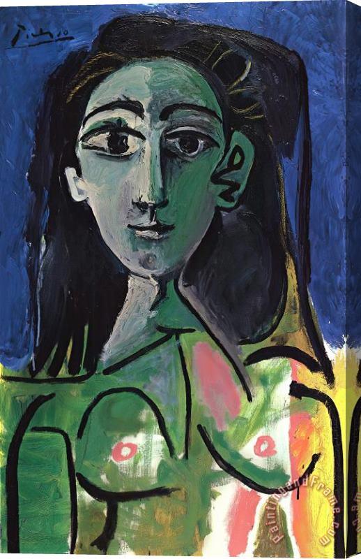 Pablo Picasso Buste De Femme Jaqueline Stretched Canvas Print ...
