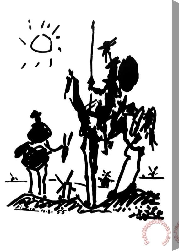 Pablo Picasso Don Quixote Art Print Poster Stretched Canvas Painting / Canvas Art
