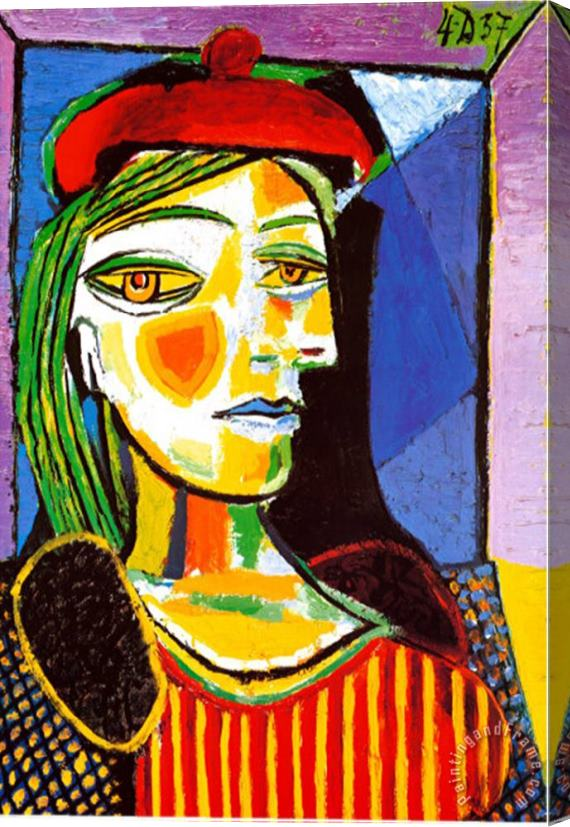 Pablo Picasso Girl with Red Beret Stretched Canvas Print / Canvas Art