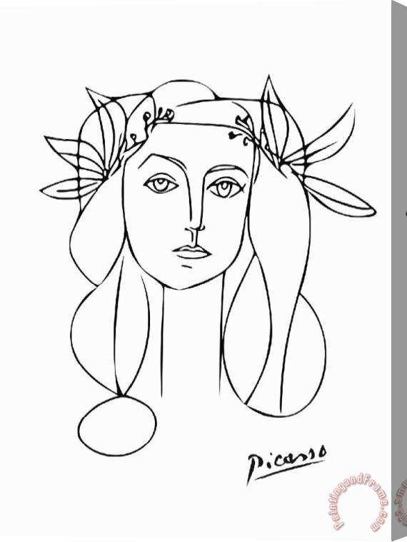 Pablo Picasso Portrait of Francoise Gilot Stretched Canvas Print / Canvas Art