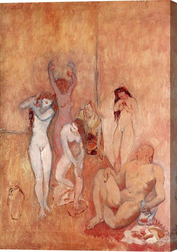 Pablo Picasso The Harem 1906 Stretched Canvas Print / Canvas Art
