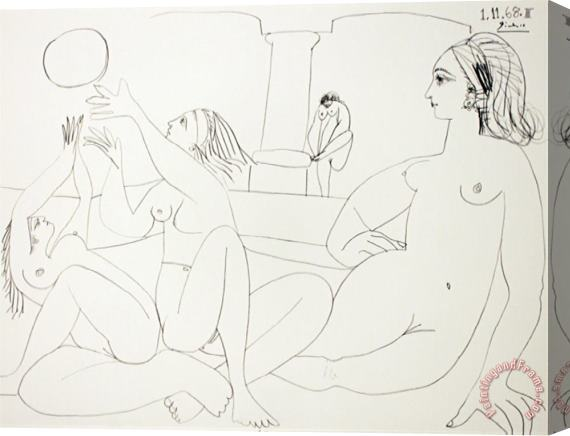 Pablo Picasso The Turkish Bath Stretched Canvas Print / Canvas Art