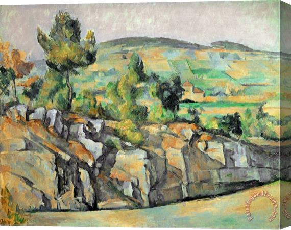 Paul Cezanne Aix En Provence Rocky Countryside Stretched Canvas Print / Canvas Art