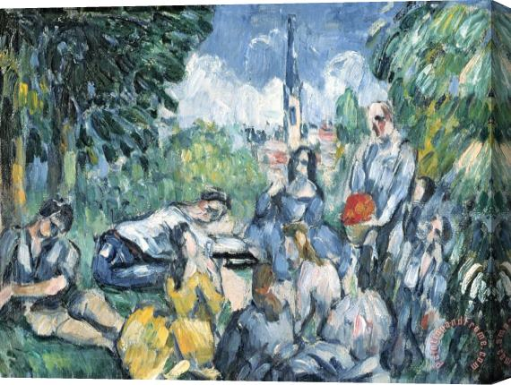 Paul Cezanne Dejeuner Sur L Herbe 1876 77 Oil on Canvas Stretched Canvas Print / Canvas Art