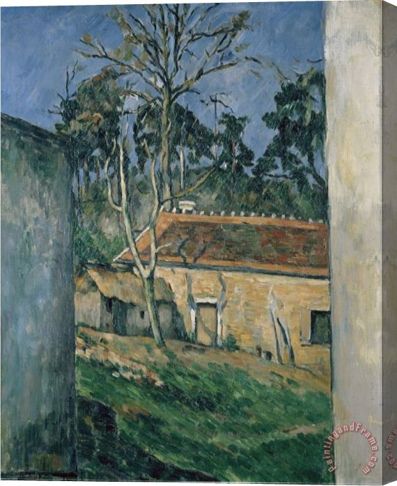 Paul Cezanne Farm Courtyard in Auvers Stretched Canvas Print / Canvas Art