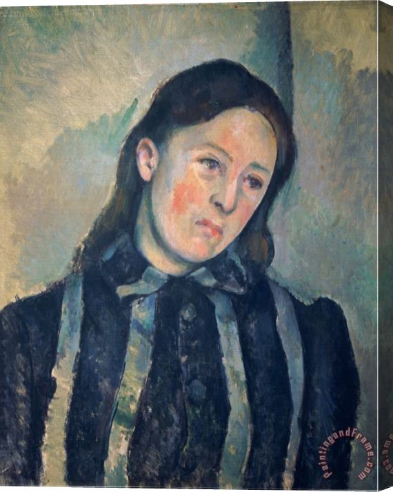 Paul Cezanne Portrait of Madame Cezanne with Loosened Hair 1890 92 Stretched Canvas Print / Canvas Art