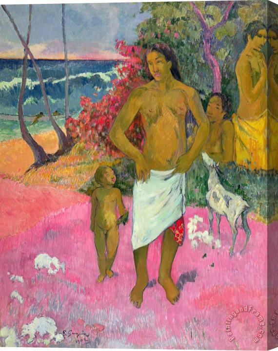 Paul Gauguin A Walk by the Sea Stretched Canvas Print / Canvas Art