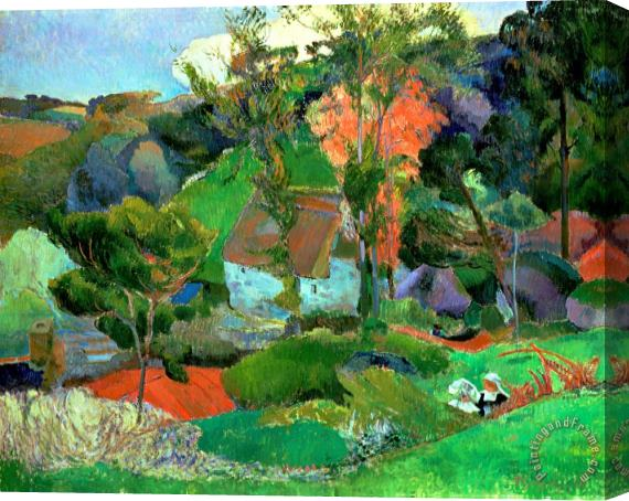 Paul Gauguin Landscape at Pont Aven Stretched Canvas Print / Canvas Art