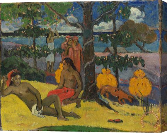 Paul Gauguin Tahitian Scene Stretched Canvas Print / Canvas Art