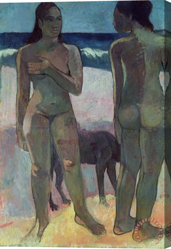 Paul Gauguin Two Tahitian Women on the Beach Stretched Canvas Print / Canvas Art