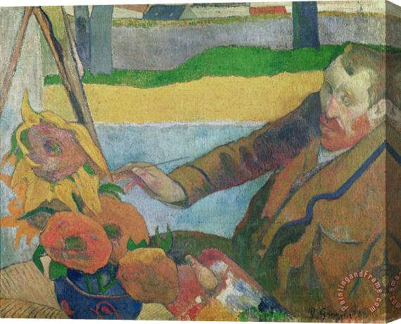 Paul Gauguin Van Gogh painting Sunflowers Stretched Canvas Print / Canvas Art
