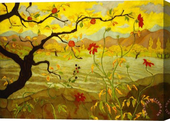 Paul Ranson Apple Tree with Red Fruit Stretched Canvas Print / Canvas Art