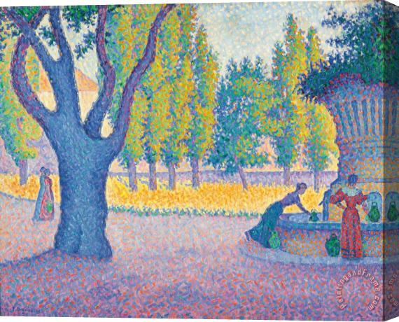 Paul Signac Saint-tropez Fontaine Des Lices Stretched Canvas Print / Canvas Art