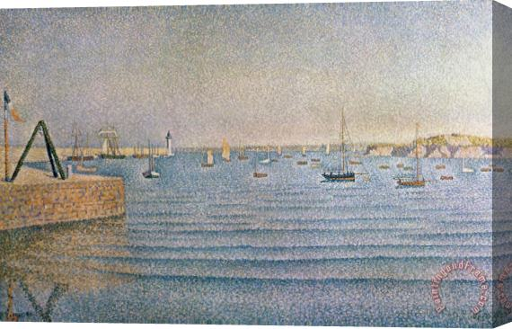 Paul Signac The Harbour at Portrieux Stretched Canvas Print / Canvas Art