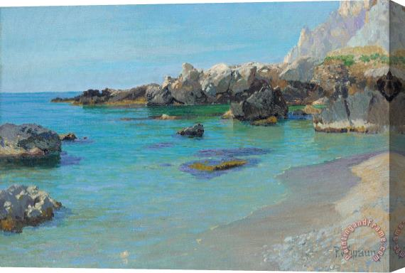 Paul von Spaun On the Capri Coast Stretched Canvas Print / Canvas Art