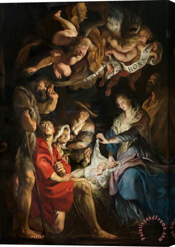 Peter Paul Rubens Birth Of Christ Adoration Of The Shepherds Stretched Canvas Print / Canvas Art