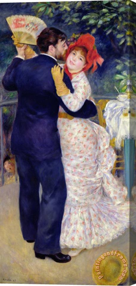 Pierre Auguste Renoir A Dance in the Country Stretched Canvas Print / Canvas Art