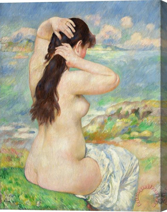 Pierre Auguste Renoir Bather Arranging her Hair Stretched Canvas Print / Canvas Art