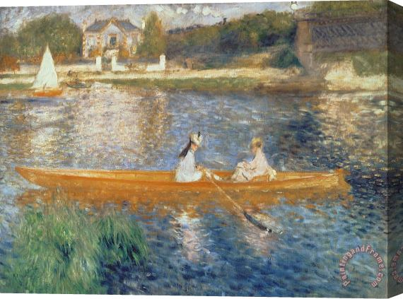 Pierre Auguste Renoir Boating on the Seine Stretched Canvas Print / Canvas Art