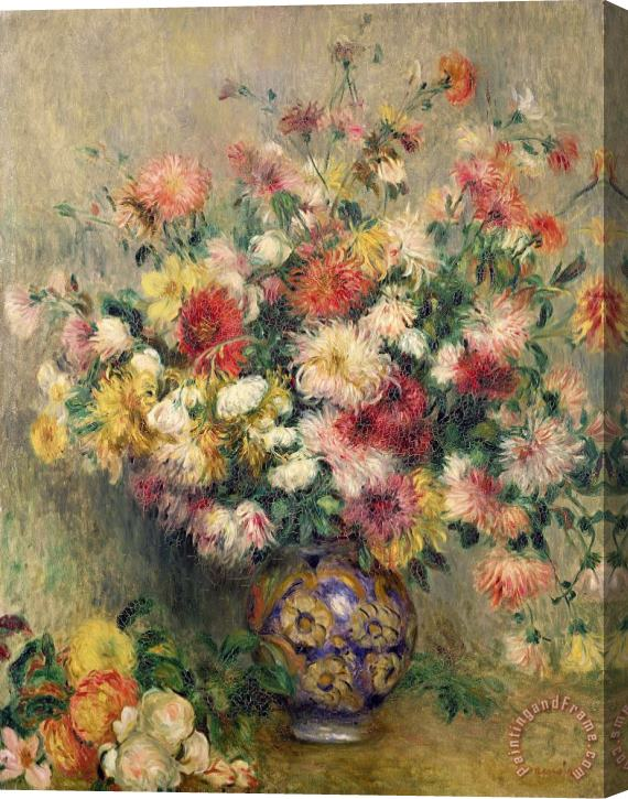 Pierre Auguste Renoir Dahlias Stretched Canvas Print / Canvas Art