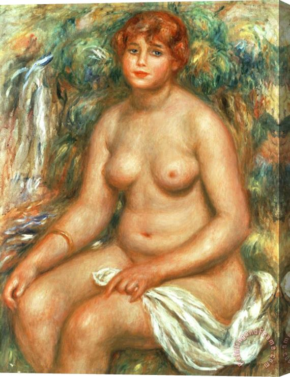 Pierre Auguste Renoir Seated Bather Stretched Canvas Painting / Canvas Art