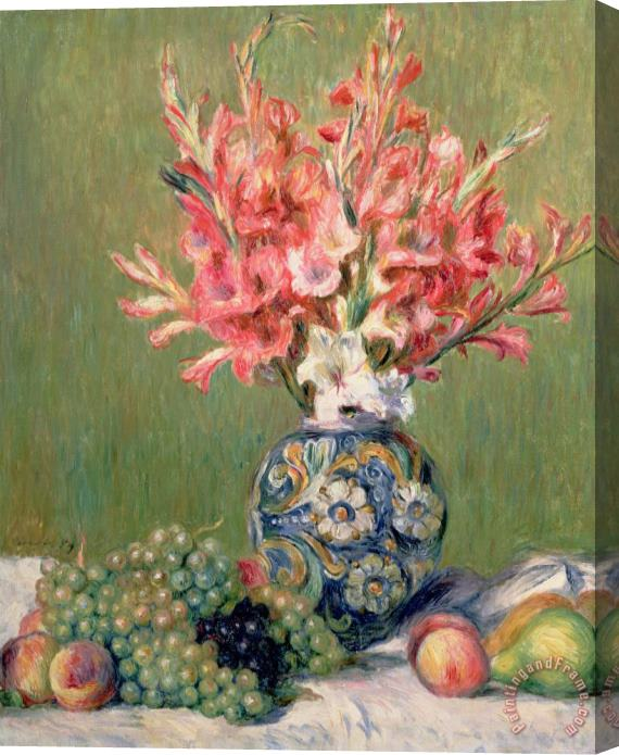 Pierre Auguste Renoir Still life of Fruits and Flowers Stretched Canvas Print / Canvas Art