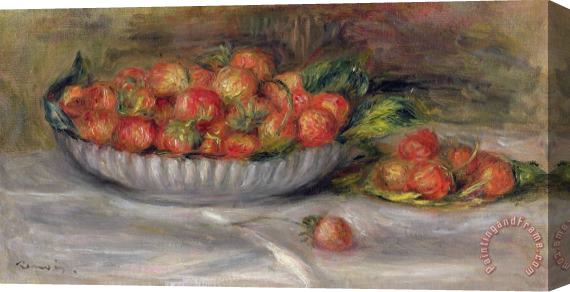 Pierre Auguste Renoir Still Life with Strawberries Stretched Canvas Painting / Canvas Art