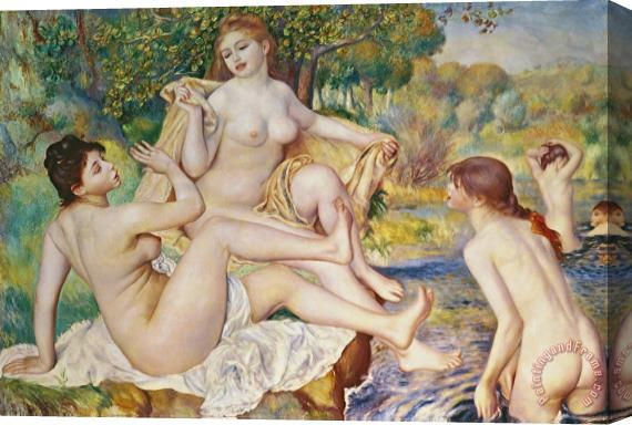 Pierre Auguste Renoir The Bathers Stretched Canvas Print / Canvas Art
