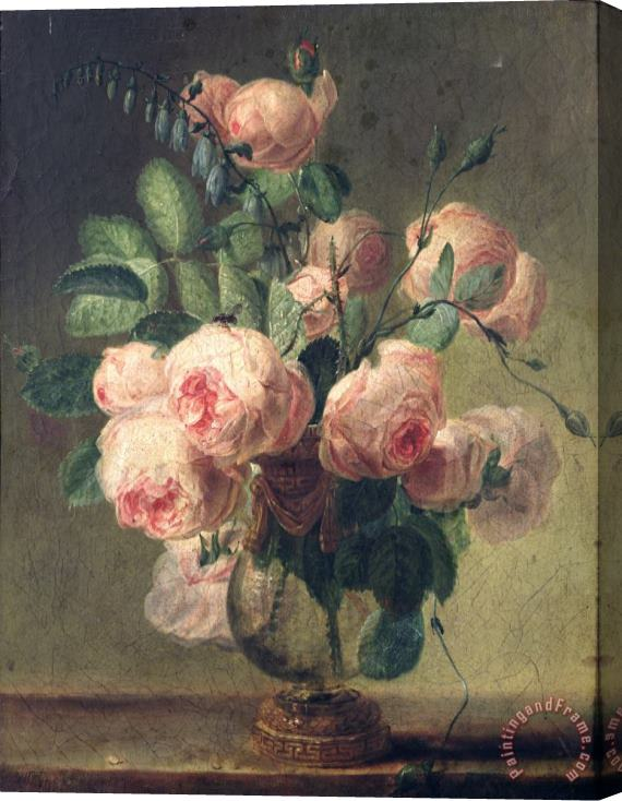 Pierre Joseph Redoute Vase of Flowers Stretched Canvas Painting / Canvas Art