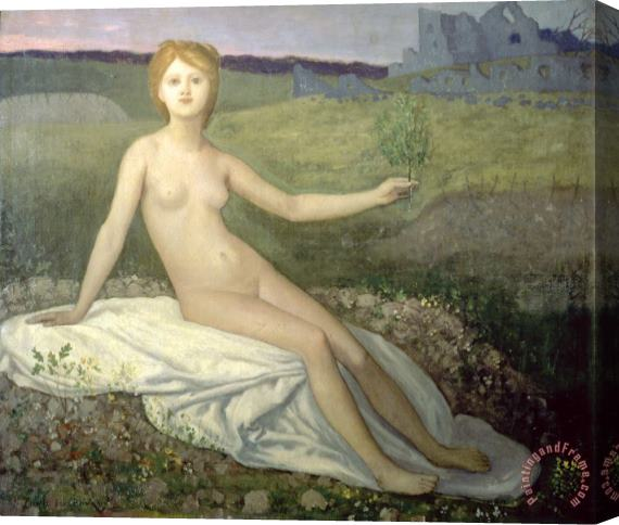 Pierre Puvis de Chavannes Hope Stretched Canvas Print / Canvas Art
