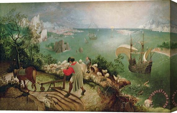 Pieter the Elder Bruegel Landscape with the Fall of Icarus Stretched Canvas Print / Canvas Art