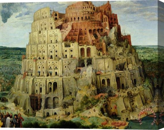 Pieter the Elder Bruegel Tower of Babel Stretched Canvas Painting / Canvas Art