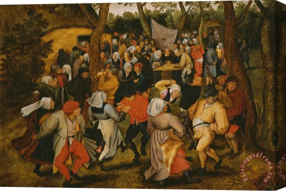 Pieter the Younger Brueghel Open air wedding dance Stretched Canvas Painting / Canvas Art