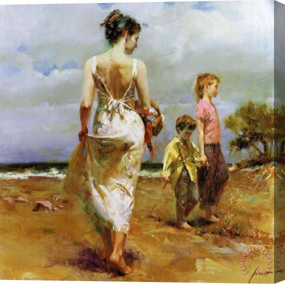 Pino Daeni Mediterranean Breeze Stretched Canvas Print / Canvas Art