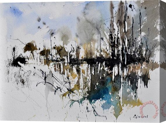 Pol Ledent Abstract Watercolor 012130 Stretched Canvas Print / Canvas Art