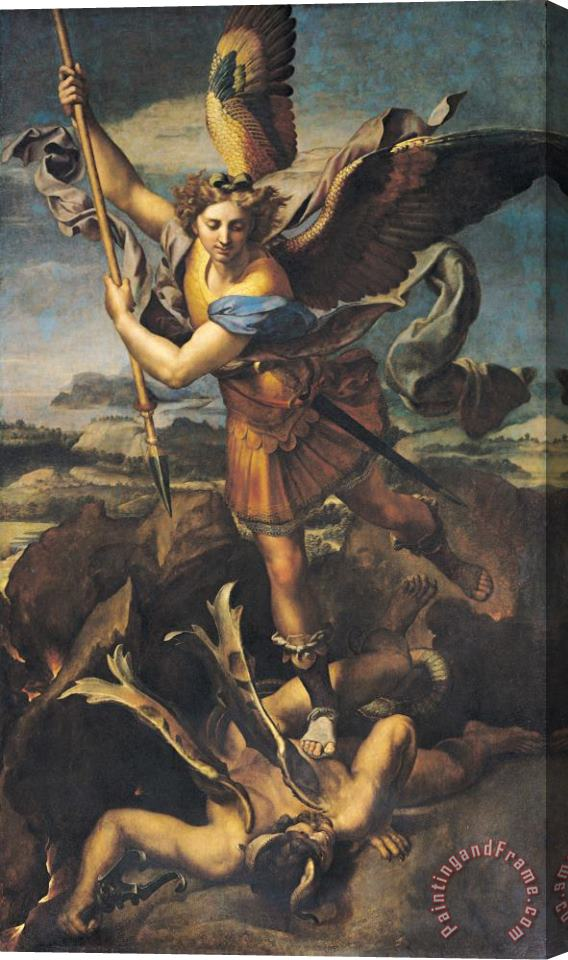 Raphael Saint Michael Overwhelming the Demon Stretched Canvas Print / Canvas Art