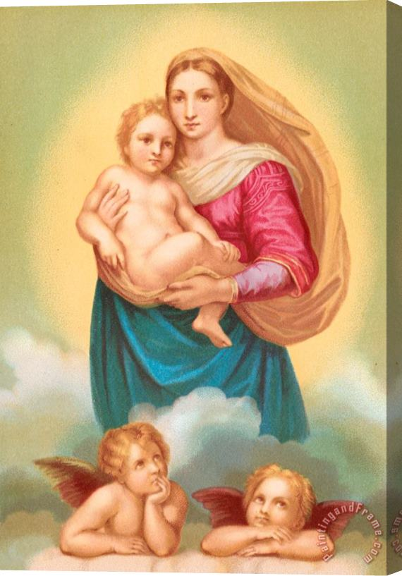 Raphael The Sistine Madonna Stretched Canvas Print / Canvas Art